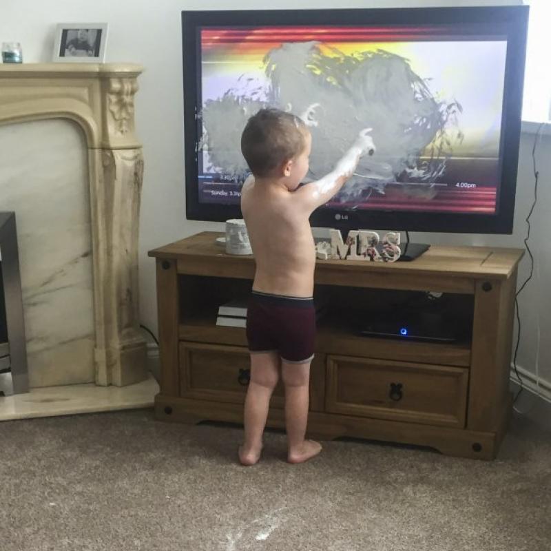 naughty toddler