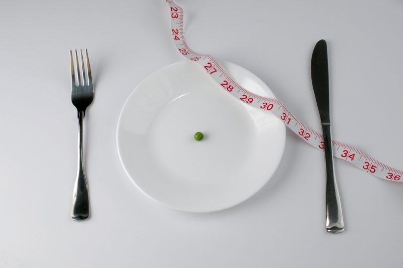 Empty plate with only one bean