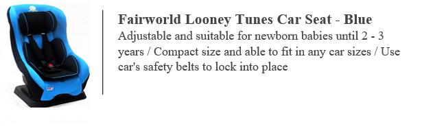 Fairworld Looney Tunes Car Seat