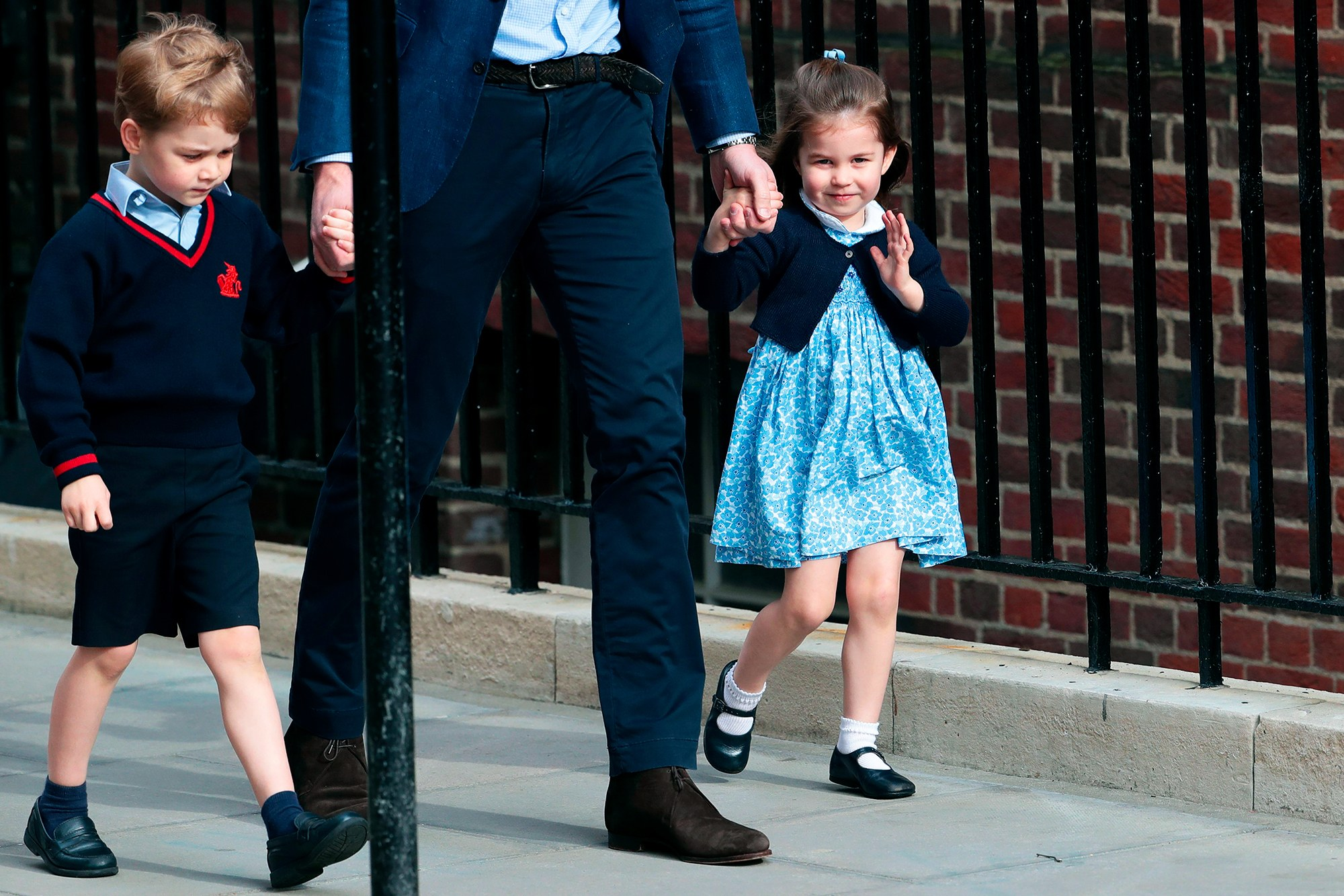 Charlotte and George, the new royal baby older siblings