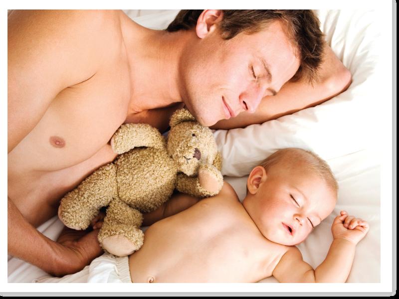 Baby &Dad sleep