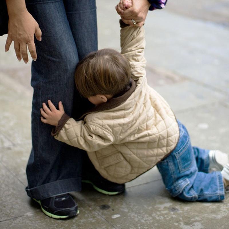 Children throwing tantrums