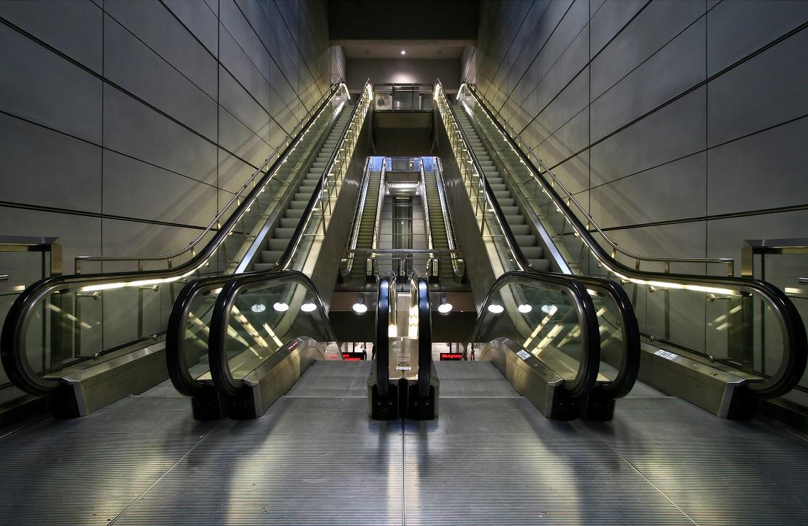 escalator in a mall = potential dangers
