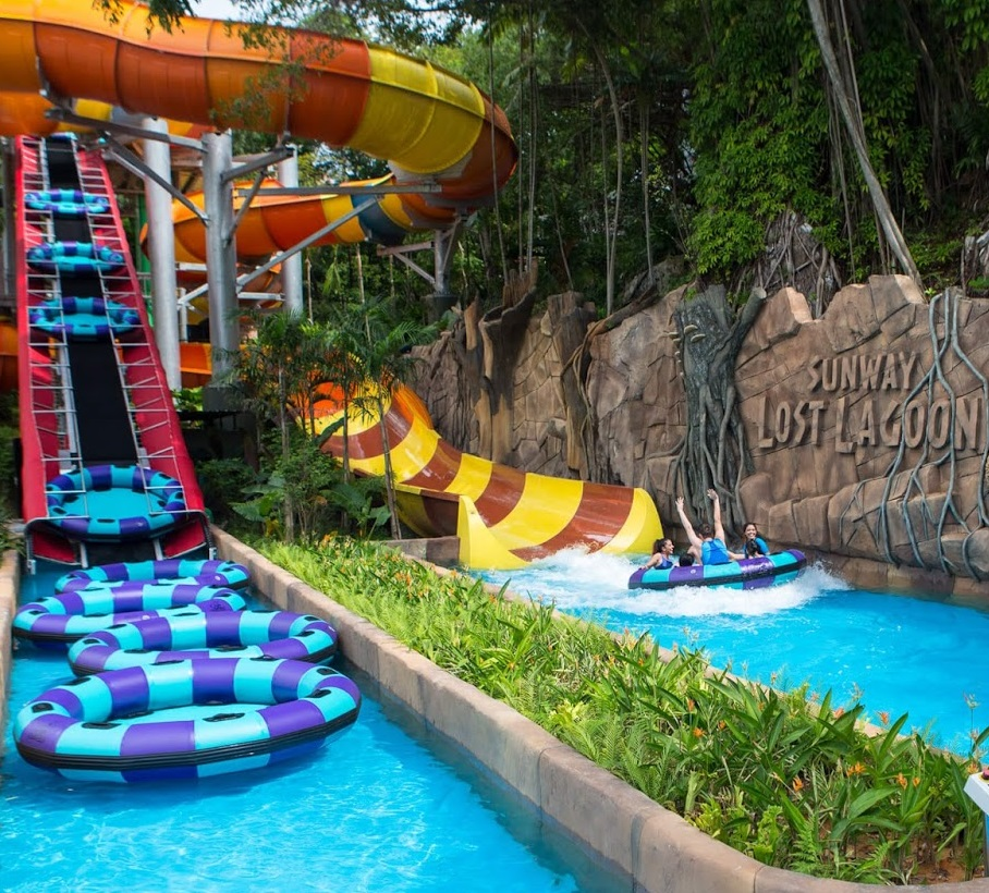 sunway lagoon water ride