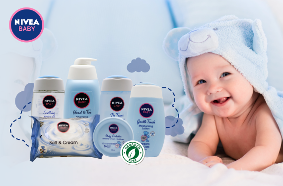 nivea baby product for baby which are parabens free