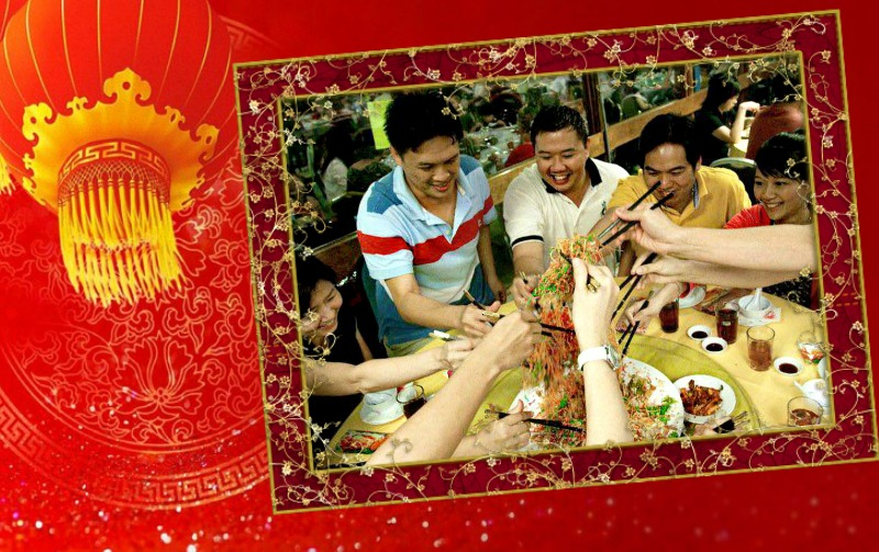 Chinese New Year is a joyous occasion and tossing Yee Sang with friends and family is one of the many traditions practiced during the festive period. (Image Credit: Rick Low)