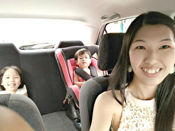 Tina has been driving to Johor and Ipoh by herself with her two girls since they were born. (Image Credit: Tina)