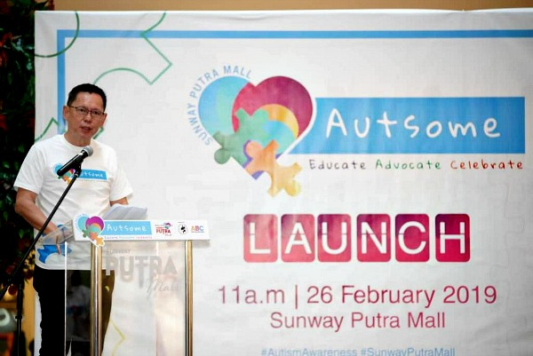HC Chan, CEO, Sunway Putra Mall, opening the event with his speech.