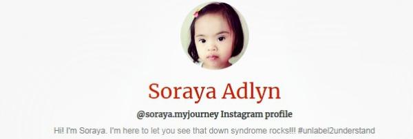 Soraya's own Instagram page.
