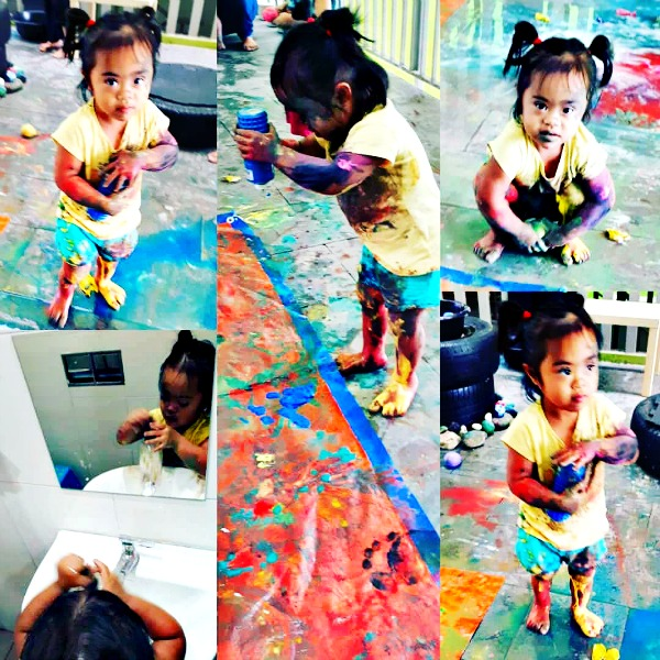 What a beautiful mess! Soraya has fun getting creative with colours.