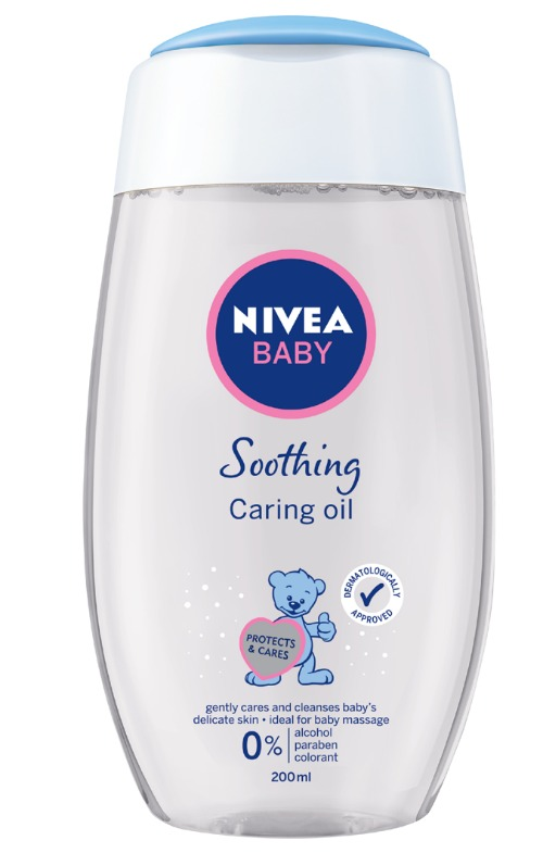 NIVEA BABY Soothing Caring Oil is clinically and dermatologically approved. It contains no animal oil.
