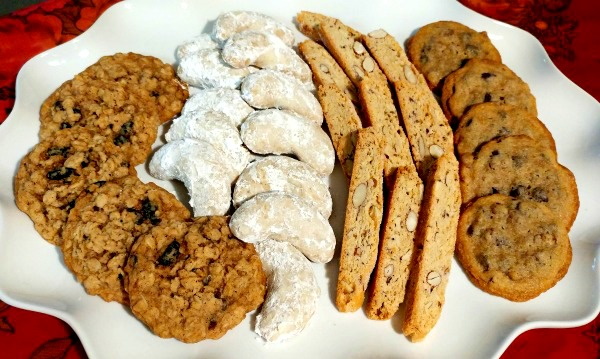 These four varieties of cookies are ideal for any occasion actually.