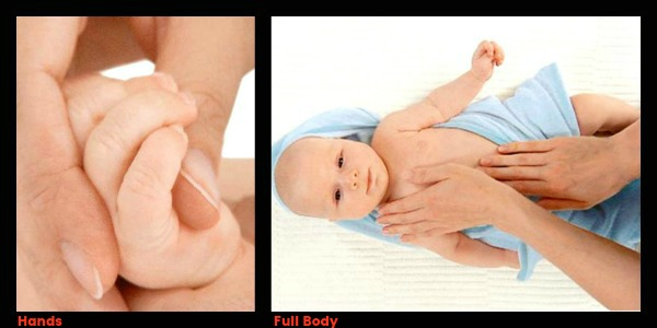 Then move to his hands and fingers before moving to his body.