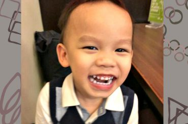 Ashton Wong shows off his set of pearly whites. (Image Credit: Rebecca Ng)