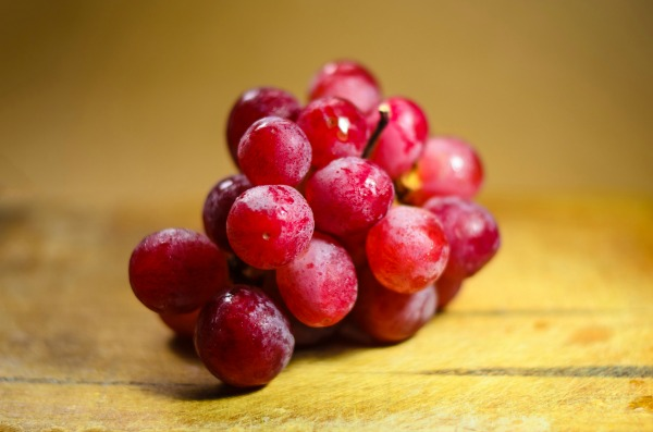 A bunch of red grapes. Fruits and Vegetables in Malaysia