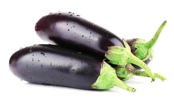 Fresh whole purple brinjals. Fruits and Vegetables in Malaysia pregnant mums should avoid