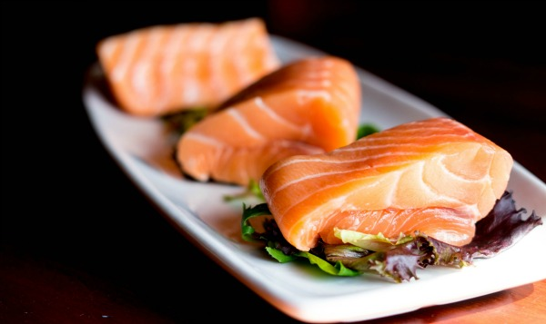 A plate of Salmon. Seafood to Conceive