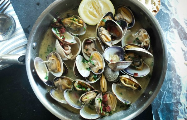 A Pot of Clams. Seafood to Conceive