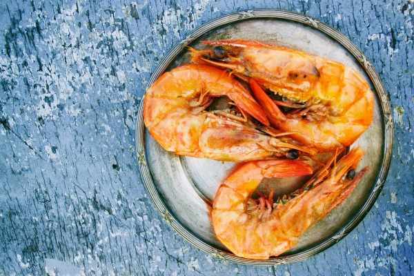 Prawns. Seafood to Conceive