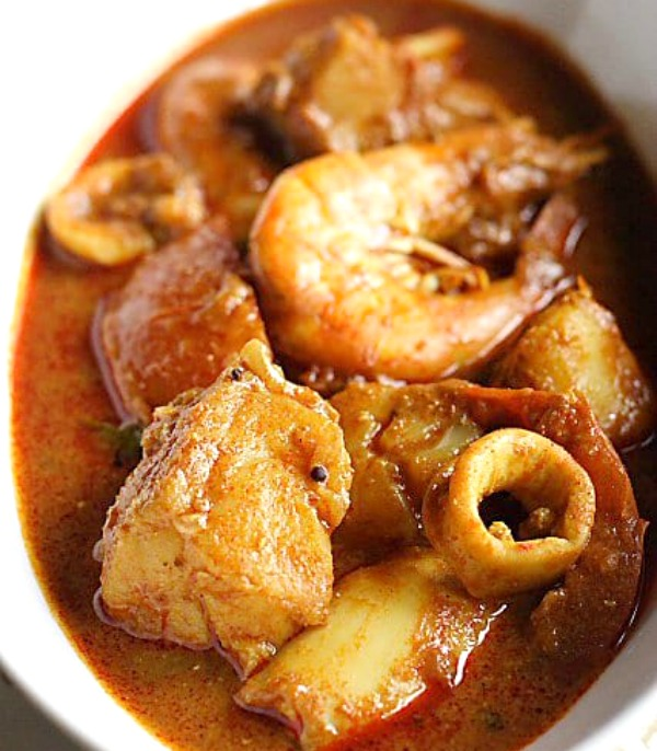 All seafood curry dish 2. Seafood to Conceive