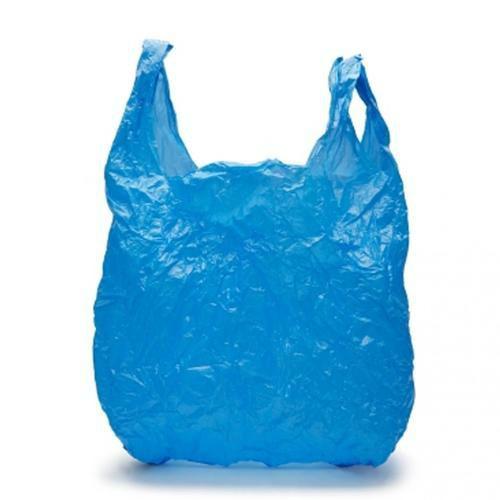 Blue Plastic Bag. Mummy Hacks to Make Diaper Changing