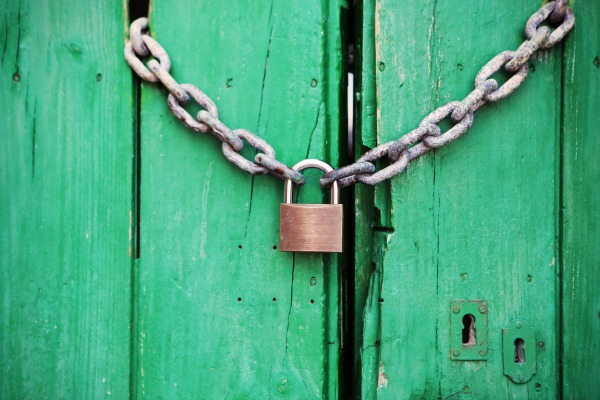 A bolted green blue door. 9 Things Nobody Tells You When You START Breastfeeding