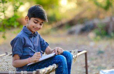 indian kid write journal