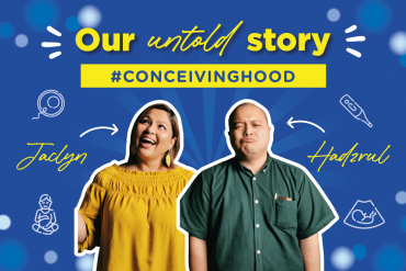 Hadzrul and Jaclyn're here to talk about their conceiving journey.